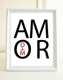 Style: Amor with initials print