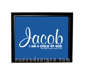 Style: I am a child of God - personalized - blue