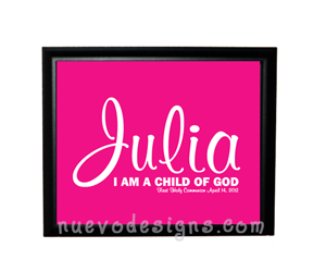 Style: I am a child of God - personalized - pink