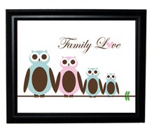 Style: Family love owls print