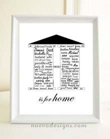 Style: H is for Home print