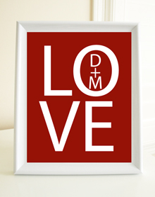 Style: Love with initials print